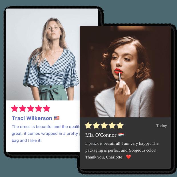 Customizable reviews widget