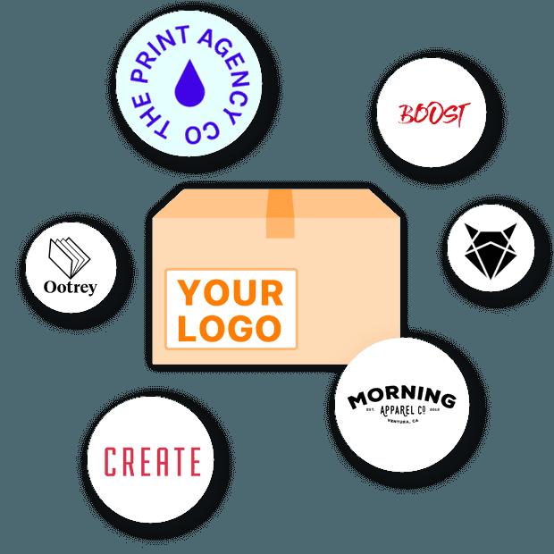 將您的品牌標誌放在訂單包裝上