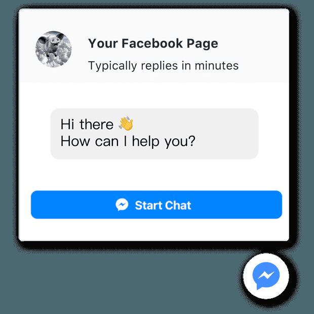 Facebook 實時聊天小部件