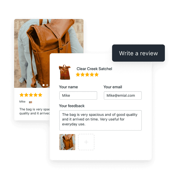 Collect customer reviews on your store