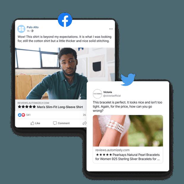 Share reviews on social media