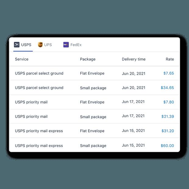 API de tarifas
