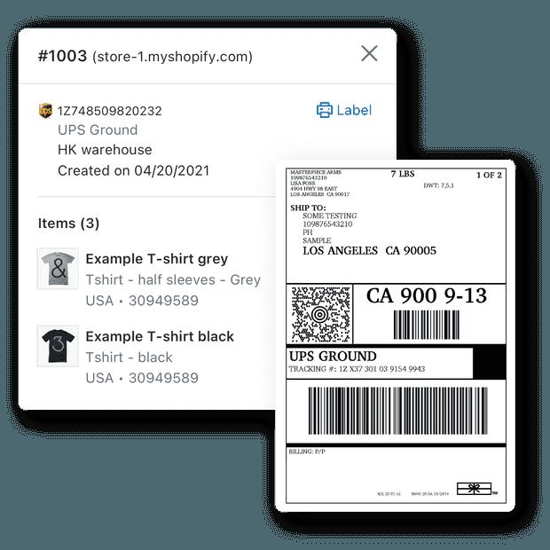 Imprima etiquetas de envío