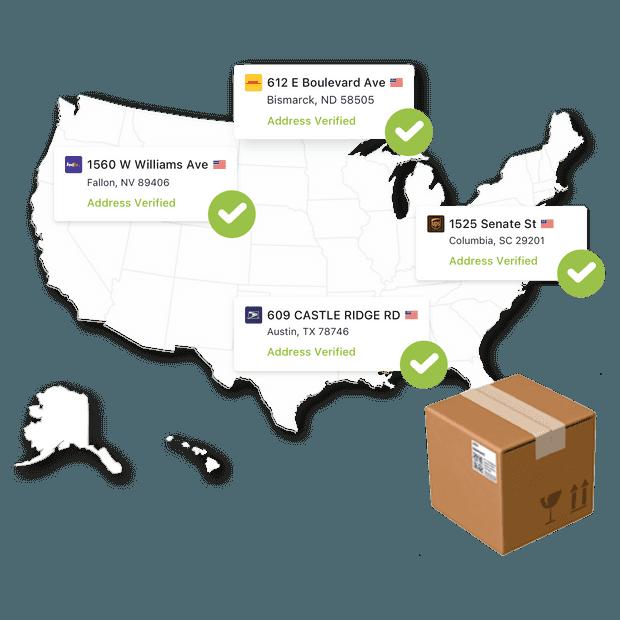 API de validation d'adresse - Postmen - Meilleure application d'expédition pour Shopify