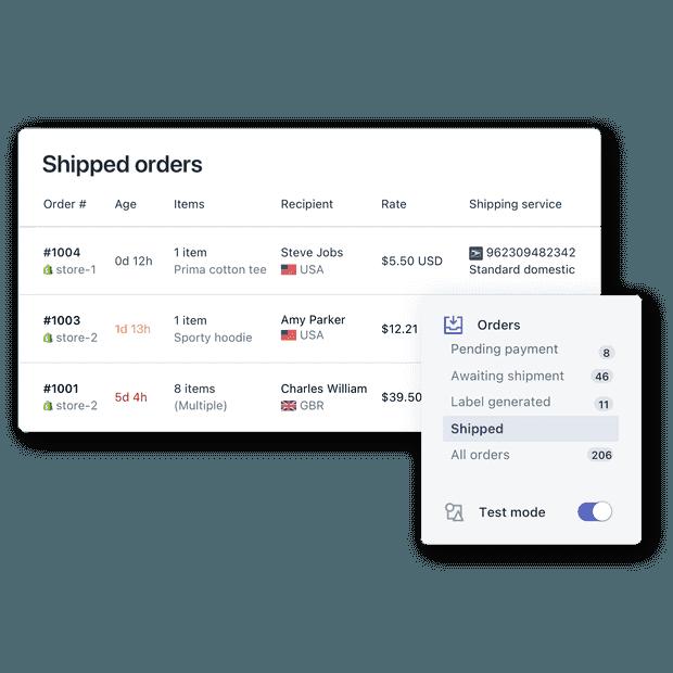 订单管理门户 - Postmen - Shopify 的顶级运输应用