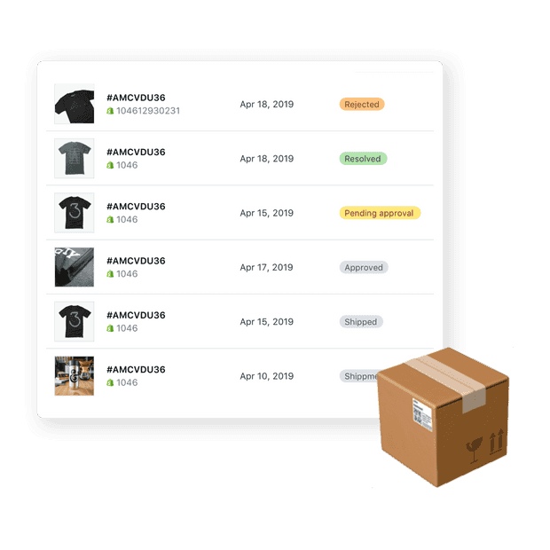 All shipments in one place