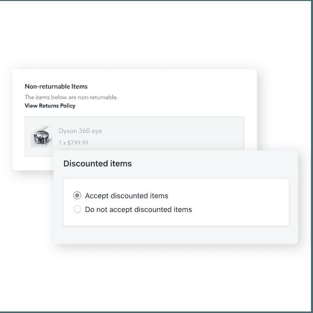 Configure non-returnable items easily